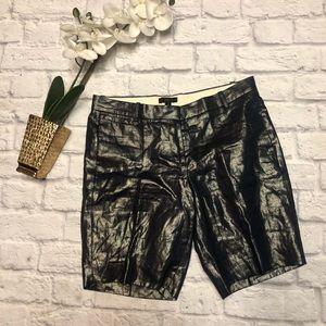 Black Label J Crew Metallic Bermuda Play Shorts